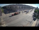 Обрыв трамвайных проводов в час пик