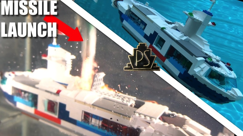 REAL WORKING RC Lego SUBMARINE! (with missiles)