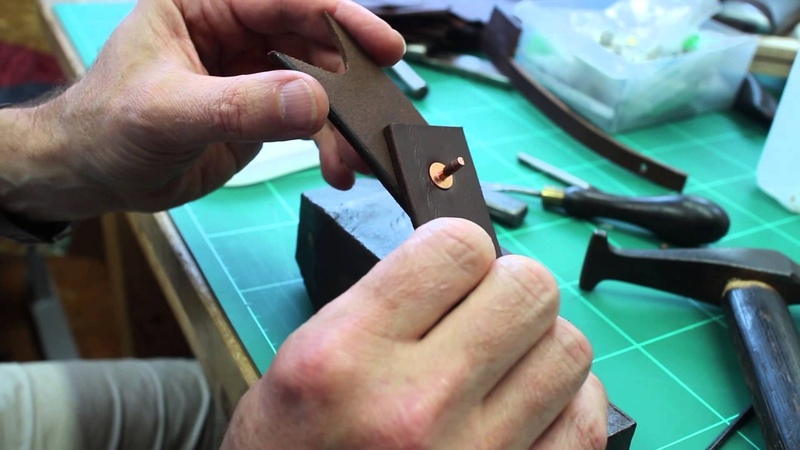 Setting Traditional Saddlers Pure Copper Rivets