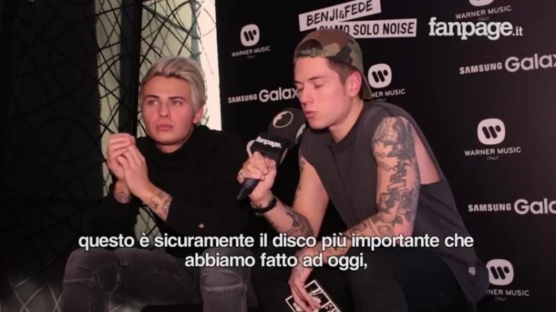 """Benji Fede presentano """"Siamo solo Noise"""" """"Parliamo di bullismo perché labbiamo subito"""""""