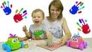 Никита рисует вместе с Мамой - Пальчиковые краски SES для Детей. Развитие ребёнка 2 года