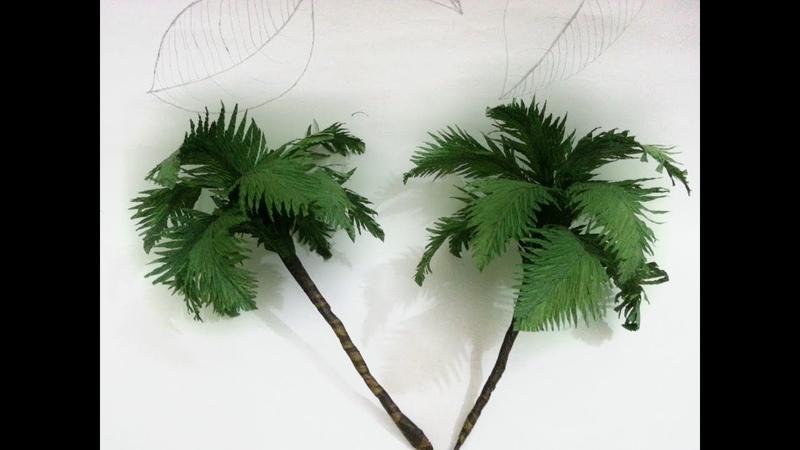 How To Make Coconut Tree From Crepe Paper - Hướng Dẫn Làm Cây Dừa Từ Giấy Nhún