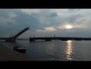 Вечерний развод Троицкого моста на репетиции Алых