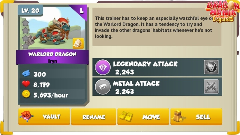 Do you have Warlord Dragon! , Dragon Mania Legends Gameplay Walkthrough Part 1450HD
