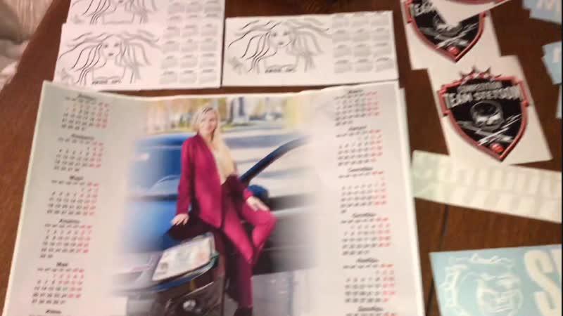 Календари и наклейки на Новый 2019 год miss spl
