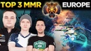 World's Best Dota 2 Players TOP 3 MMR Rank of Europe