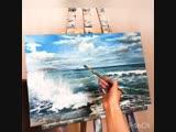 Написание морского пейзажа художник Зарубина Елизавета
