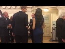 Video a sweet rub on the back for Prince Harry from his wife, the Duchess of Sussex, at a .mp4