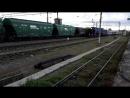 Прибытие ретро-поезда на ст. Шарья