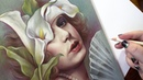 Портрет карандашами / Lili Elbe the Danish Girl - Time lapse drawing with voice over