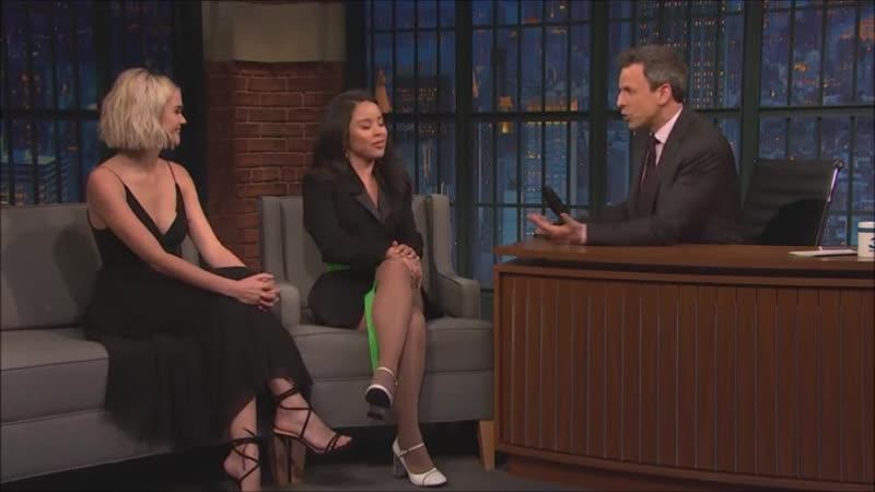 Maia Mitchell et Cierra Ramirez au Late Night de Seth Meyers le 28 Janvier 2019