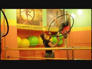 МК у Дарьи Сало по воздушной акробатике. Наш тренер Марина Реброва