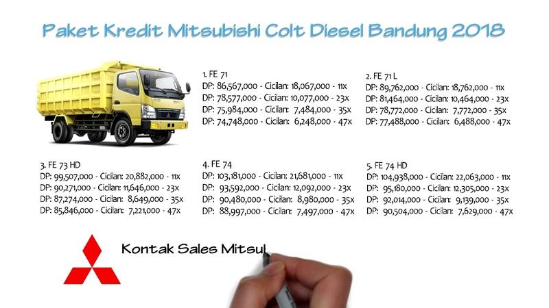 Kredit Mitsubishi Colt Diesel Bandung Oktober 2018 0811229295