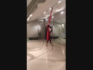 Учим связку - Pole Silks Combo - Анастасия Лань