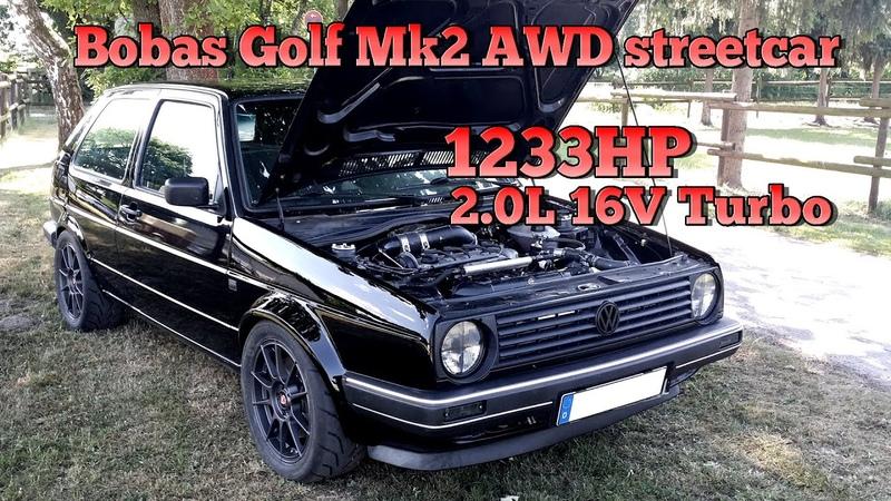 Brutal Golf Mk2 1233HP 16V Turbo Acceleration from Boba Motoring FULL VIDEO 2015