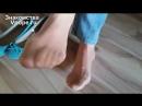 Девушка в балетках и колготках Ножки, Фетиш, Фут, Foot, Fetish, Чулки, Legs, Секси