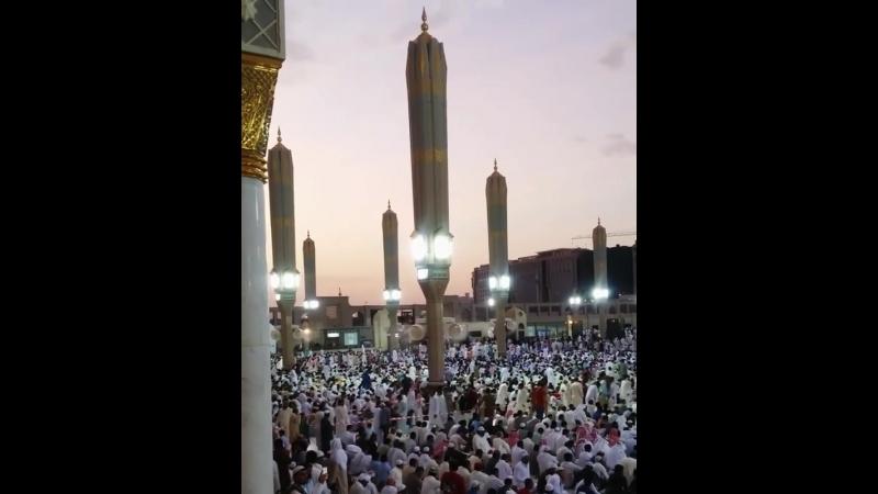 الله أكبر ولله الحمد ❤ ' تكبيرات عيد الأضحى اليوم من المسجد النبوي