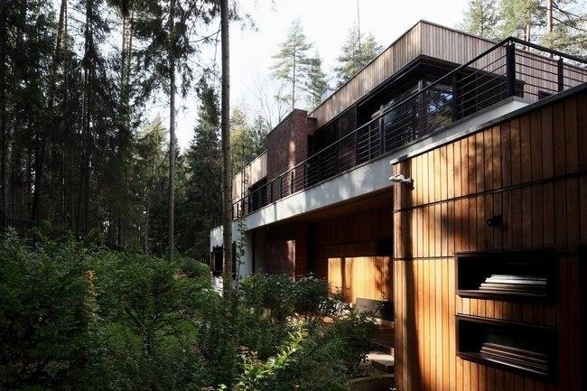 Домик в сосновом лесу