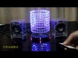 LED light cube music spectrum of fantasy light vertical circle