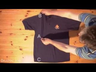 Как компактно складывать одежду (VIDEO ВАРЕНЬЕ)