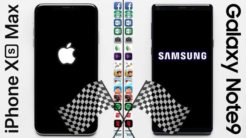 IPhone XS Max vs. Galaxy Note 9 Speed Test
