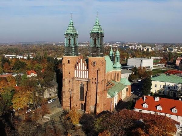 Katedra w Poznaniu z lotu ptaka