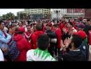 Марокканские болельщики батл на площади Победы в Калининграде