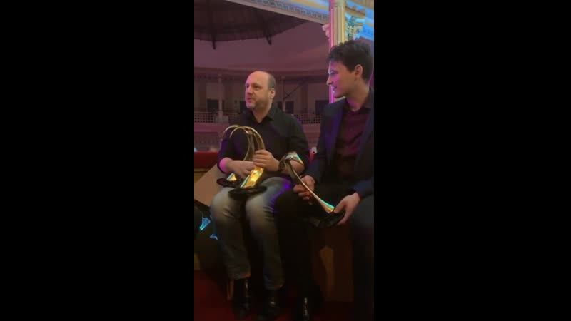 David Cage and Bryan Dechart after ItalianVGA