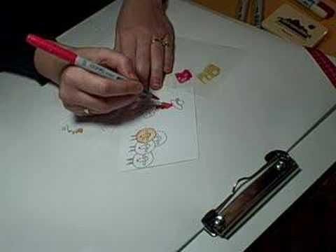 Copic marker coloring techniques