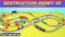 Trackmaster Destruction Derby 45 Thomas Friends accidents Tomek i Przyjaciele zderzenia