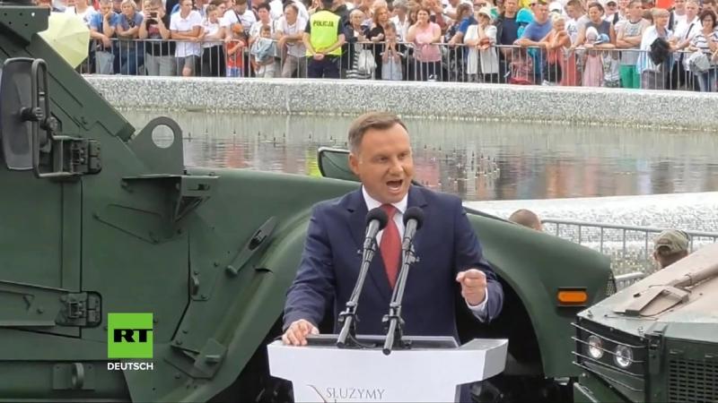 Polen_ Präsident fordert permanente US-Militärbasis - Freuen uns über starke amerikanische Präsenz - YouTube (720p)
