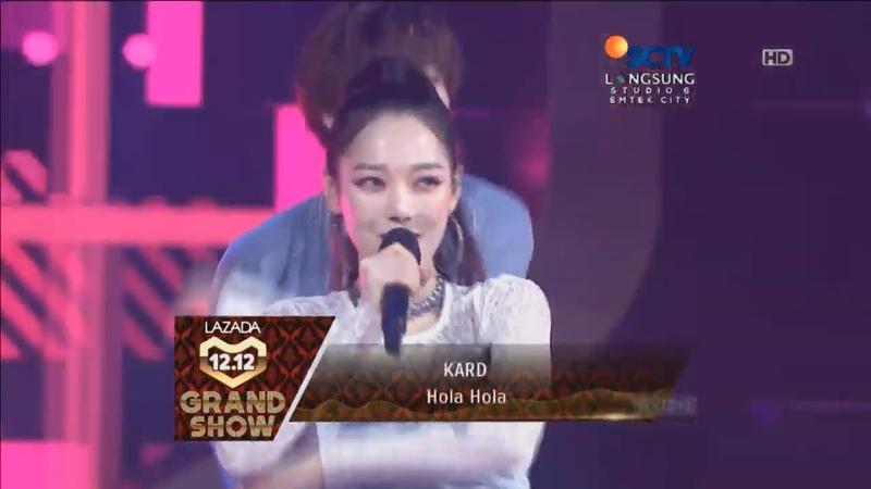 KARD - Hola Hola Live Lazada Indonesia 12.12 Grand Show HD 720p