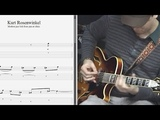 Kurt Rosenwinkel - Modern jazz lick from jam at clinic - Best lick (animated tab - Fast &amp slow)