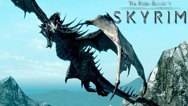 The Elder Scrolls V Skyrim 5! УБИЛИ ПЕРВОГО ДРАКОНА! Забрали силу дракона Крик! Город Вайтран!