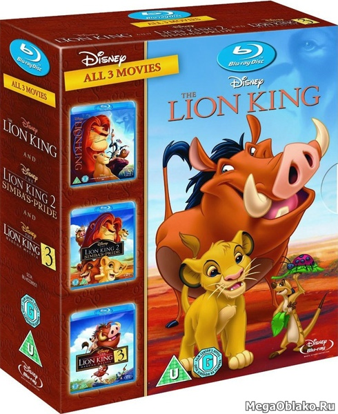 Король лев. Трилогия / The Lion King. Trilogy (1994-2004) BDRip 720p, 1080p