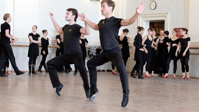 Фрагменты репетиции Еврейской сюиты, Китайского танца с лентами. ГААНТ имени Игоря Моисеева