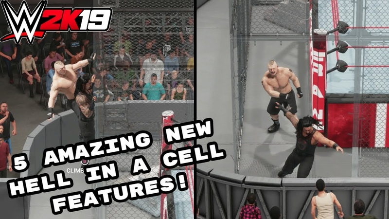 WWE 2K19 5 Incredible NEW Features Added To Hell In A Cell Matches