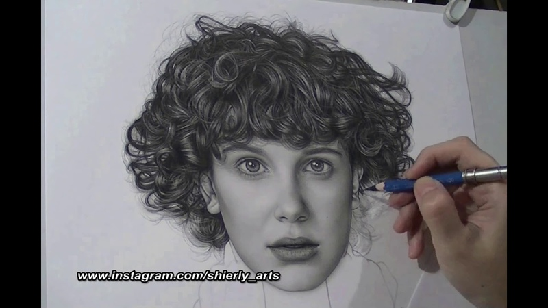 Realism Portrait Drawing Of Millie Bobby Brown ELEVEN
