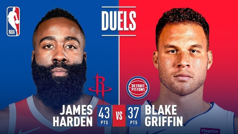 Duel In Houston: James Harden vs Blake Griffin | November 21, 2018 NBANews NBA Pistons BlakeGriffin Rockets JamesHarden