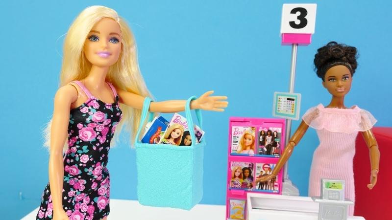Barbie va de compras Barbie en el supermercado Vídeo para niñas y niños