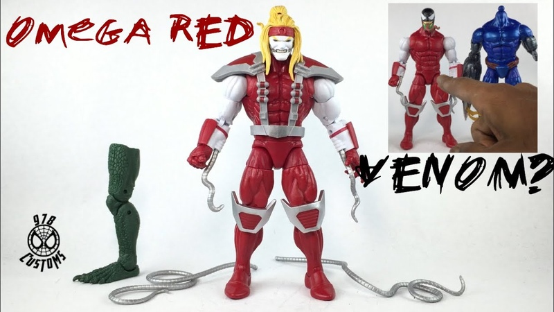OMEGA RED Marvel Legends Deadpool wave Sauron BAF action figure review