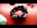 Мужской стильный браслет Шамбала с турмалином, аметистом и бусиной Дзи
