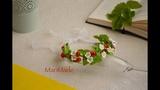 Канзаши Венок из Земляники МК Kanzashi Wild Strawberry Head Wreath DIY