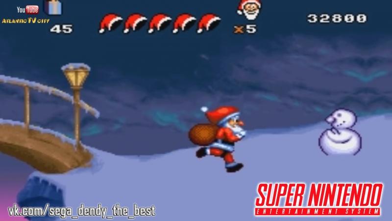 Переполох перед Рождеством Супер Нинтендо Прохождение игры 1994 Daze Before Christmas SNES
