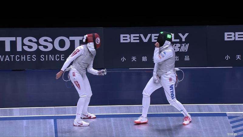 2018 Wuxi World Championships - WF Ind Semifinal BOUBAKRI (TUN) v VOLPI (ITA)