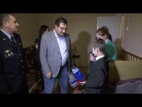 Вручение подарков семье погорельцев в Чучково
