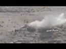 Миномёт хуситов накрыл пулемётную позицию хадистов в Нихме.