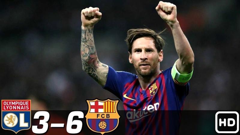 🔥 Лион Барселона 3 6 Обзор Матчей 1 8 Финала Лиги Чемпионов 2008 09 HD 🔥