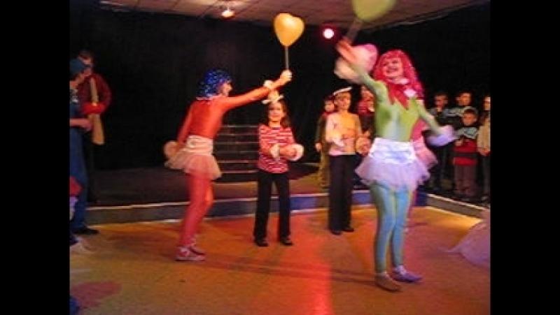 Танец марионеток. Голубая стрела Дж. Радари. Театр ДРАМатическая АНТРЕприза, 2003-2004 г.