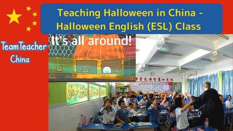 Halloween Lesson, English (ESL) Class - Teaching in China